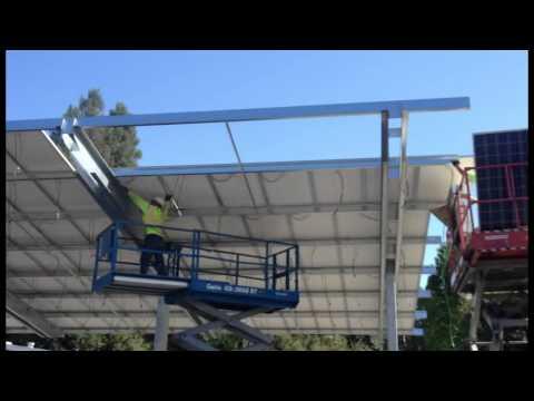 Solar Carport Installation by Park N Shade