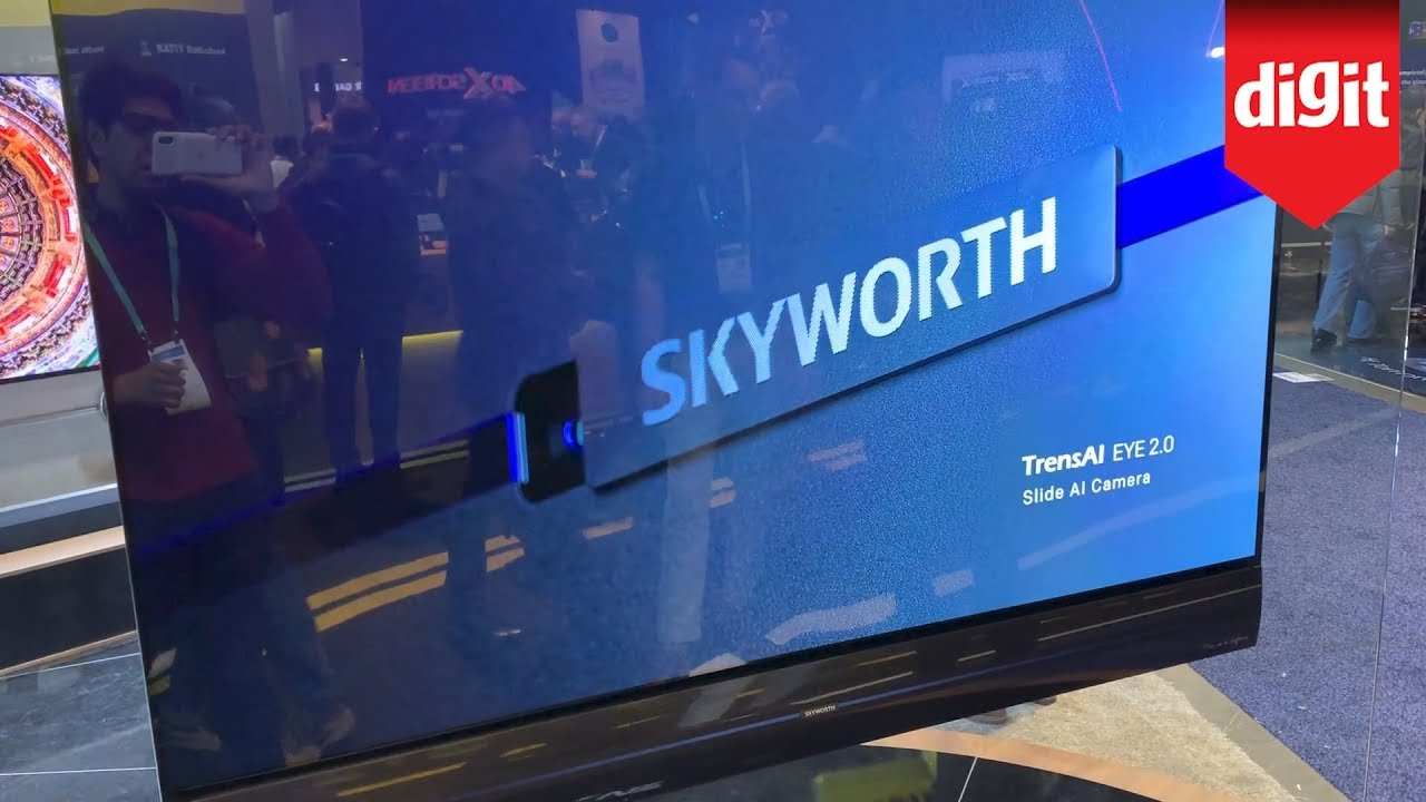 Skyworth 65 Inch 4k Oled Wallpaper Tv First Look From Ces 2020 Youtube