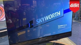 Skyworth 65-inch 4K OLED Wallpaper TV - First Look from CES 2020