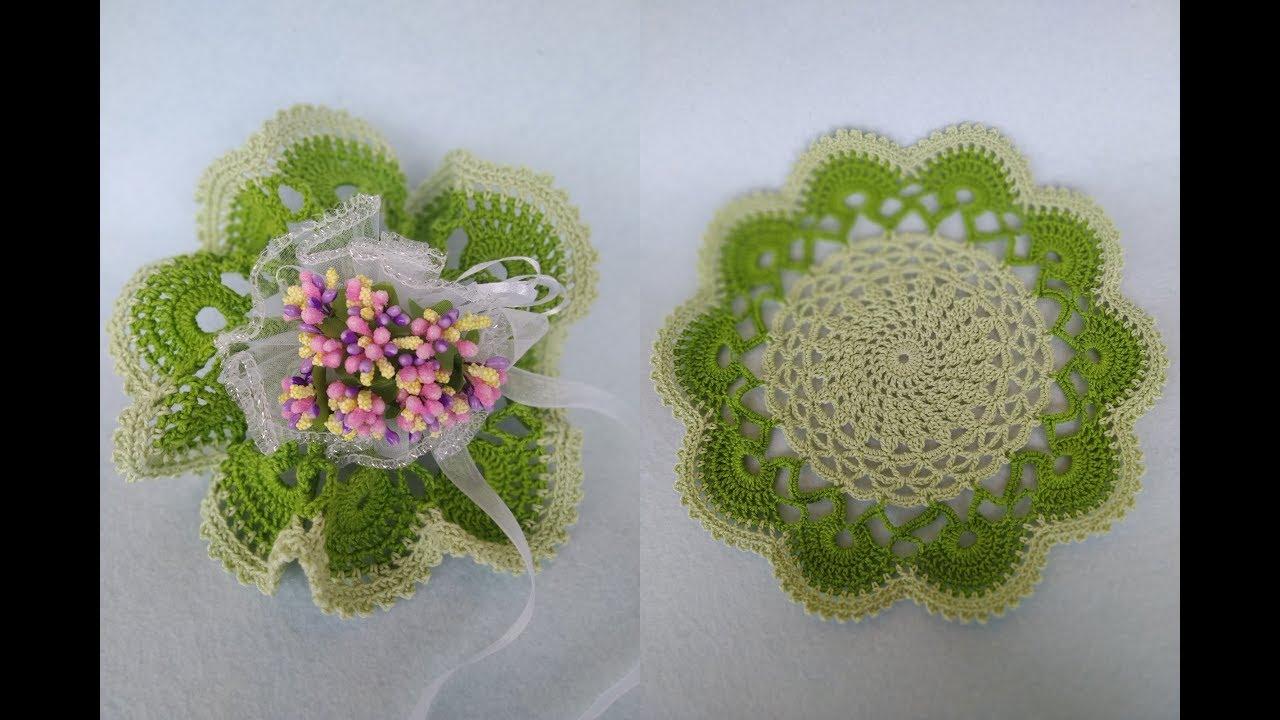Molto Bomboniera Centrino Uncinetto Tutorial 💐 Doily Crochet - Centro UL41