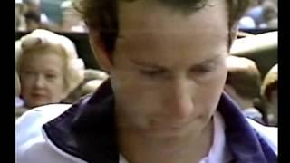 Bud 'Mr Tennis' Collins interviews McEnroe -  Wimbledon 1984 Final