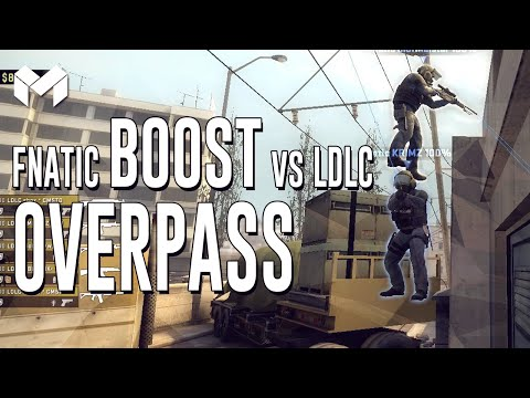 CS:GO - Fnatic Overpass boost vs LDLC