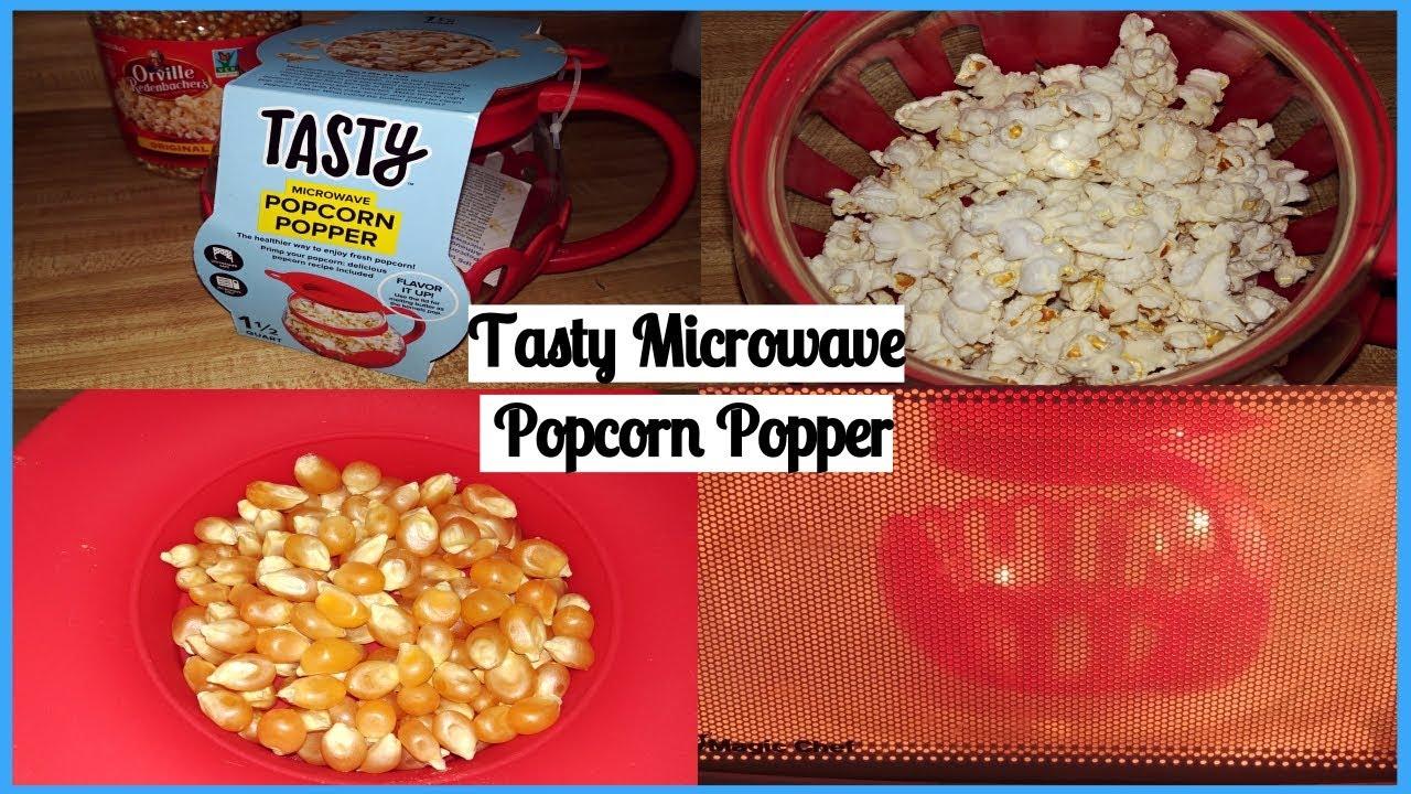 Review Demo Tasty Microwave Popcorn Popper 1 5 Quart Youtube