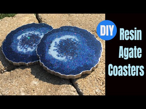 Resin Agate Coasters DIY Tutorial
