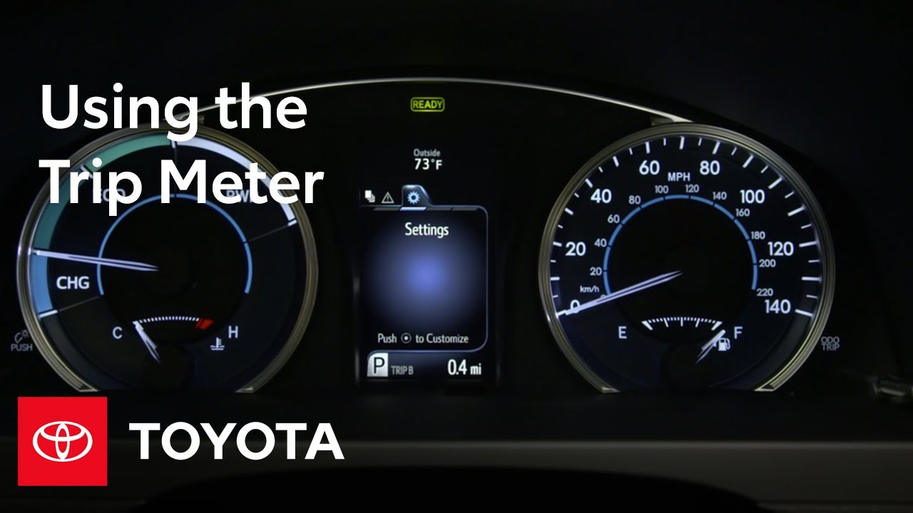 Toyota How To Trip Meter Toyota Youtube