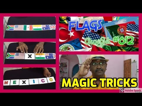 ONLINE TAMIL MAGIC I ONLINE MAGIC TRICKS TAMIL #612 I FLAGS