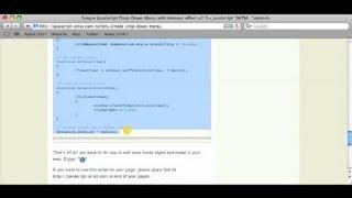 How to Make a Dropdown Menu Using Javascript : Using a Mac