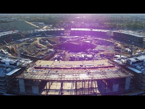 Apple's New Campus Via Drone Footage
