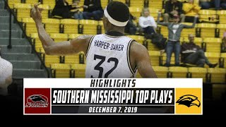 Southern Mississippi Basketball Top Plays vs. Southern Illinois (2019-20) | Stadium