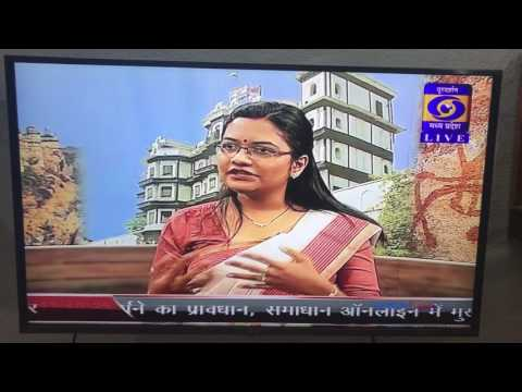 Soumya Upadhyay Live Interview @DD Bhopal, Namaskar MP Humare Mehman 3rd May 17 Part 1