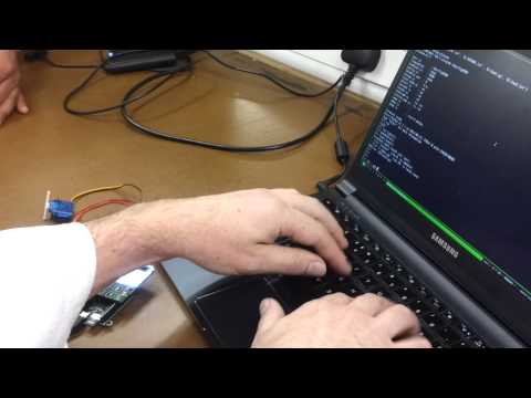 Micro Python demo at Open Tech Workshop in Cambridge 2