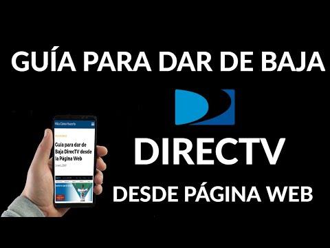 Cómo dar de Baja DirecTV desde la Página Web