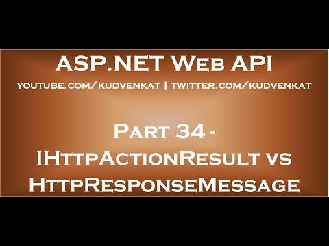 IHttpActionResult vs HttpResponseMessage