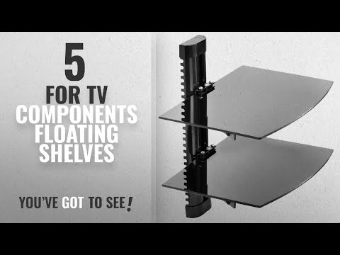Top 10 For Tv Components Floating Shelves [2018 ]: Mount Factory - Adjustable Wall Mount / Glass