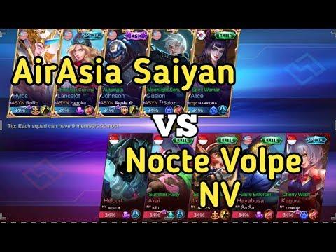 Airasia Saiyan vs Nocte Volpe | Epic match between two great team(Rank Match)