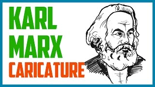 KARL MARX CARICATURE | Speed drawing a caricature of Karl Marx