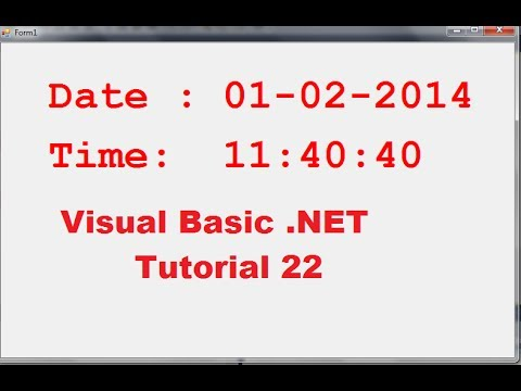Visual Basic .NET Tutorial 22 - How To Show Running Current Date And Time In VB.NET