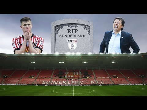 SUNDERLAND RELEGATED TO LEAGUE ONE!!!