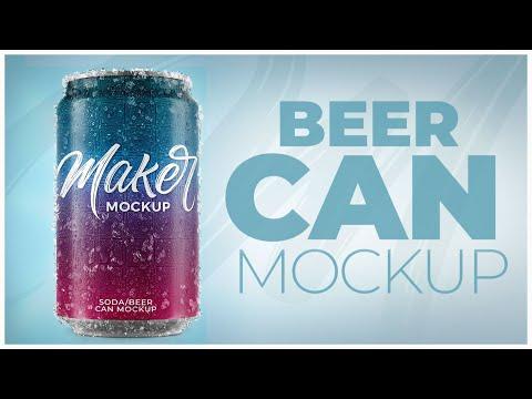 Can Beer Soda Mockup lata cerveja refrigerante