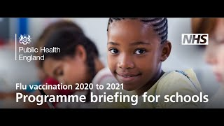 NHS Flu Vaccination 2020 to 2021 Programme Briefing For Schools