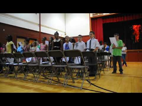 Lamar performs with another student  at Cheston Elementary School Easton PA 18042