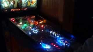 My Mom playing Dr Dude pinball at Sneakers Sports Bar in Jacksonville Beach FL