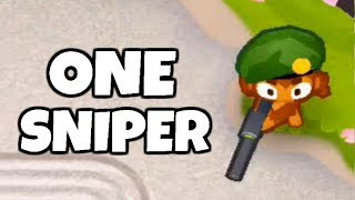 How Long Can You Survive With 1 Sniper Monkey? (Bloons TD 6)