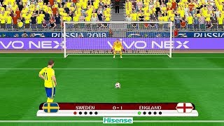 England vs Sweden - FIFA World Cup Russia 2018 Gameplay
