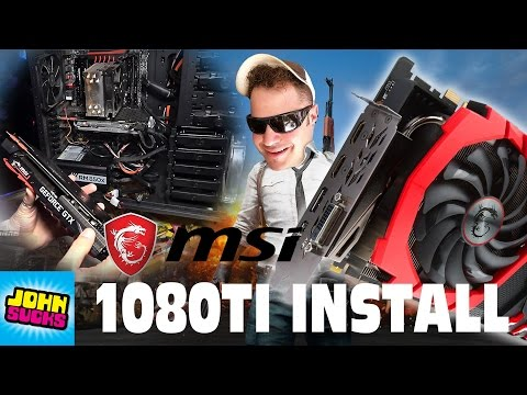 Best 1080TI? INSTALL MSI GeForce GTX 1080 Ti GAMING X 11G Graphics Card How To Windows 10 Review