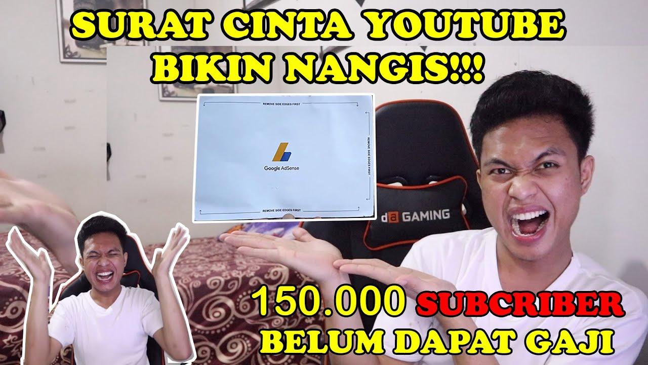 SURAT CINTA DARI YOUTUBE BIKIN BAPER!!! || 150.000 Subcriber belum dapat gaji???