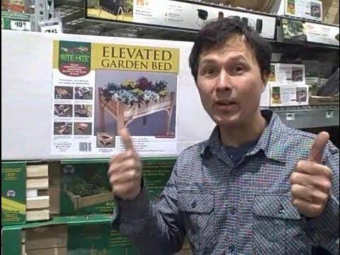 Waist Height Raised Garden Kit & New Organic Seeds at Home Depot