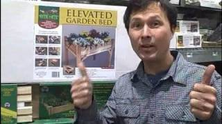Waist Height Raised Garden Kit & New Organic Seeds At Home Depot