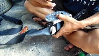 (part 1) tutorial servis seatbelt mobil yg macet( seatbelt Honda Brio)