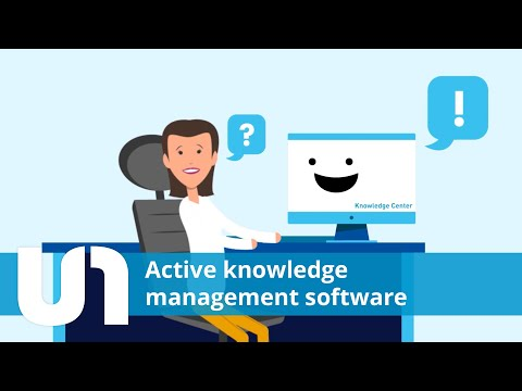 The active knowledge management software Knowledge Center from USU
