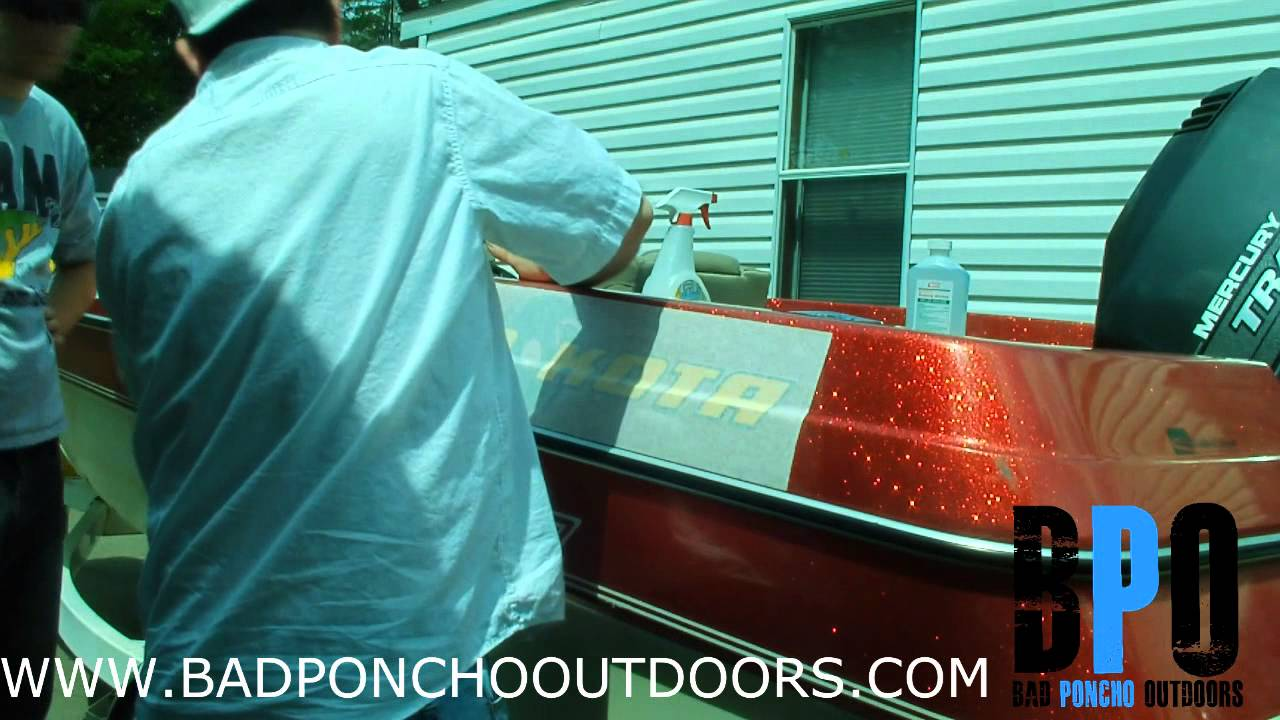 How To Install A Decal On A Bass Boat YouTube - Bass boat decals   easy removal