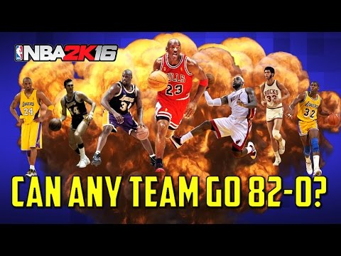 Can The Best Team Possible Go 82-0?? - NBA 2K16 My League Simulation