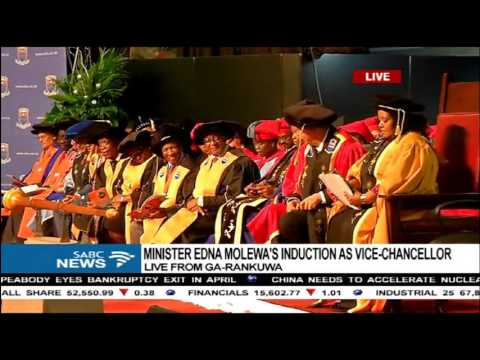 Minister Edna Molewa inducted as Vice Chancellor