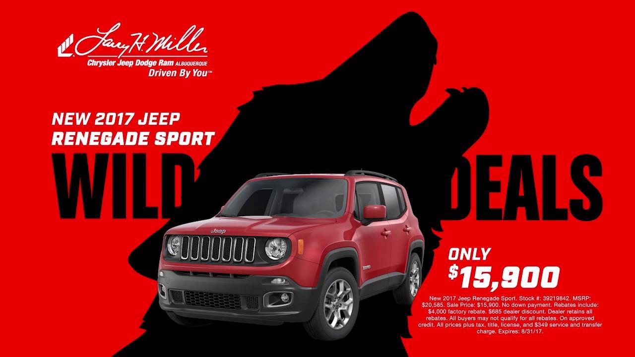 Wild Deals On 2017 Jeeps | Larry H. Miller Chrysler Jeep Dodge Ram  Albuquerque