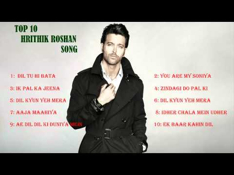 Thumbnail: Top 10 Hrithik Roshan song ,audio jukebox, top 10