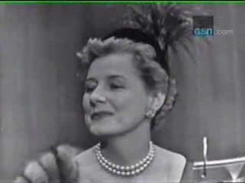 Irene Dunne on Whats My Line  YouTube
