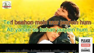 Tujhe dekha to yeh jana sanam full karaoke track with lyrics