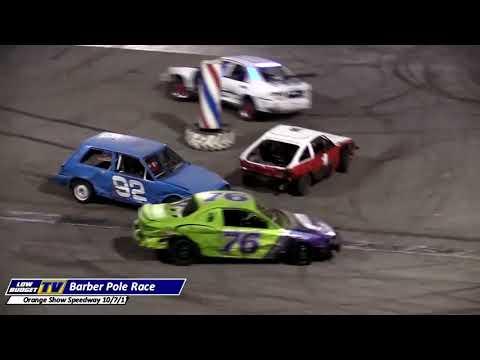 Barber Pole Race at Orange Show Speedway 10-7-17