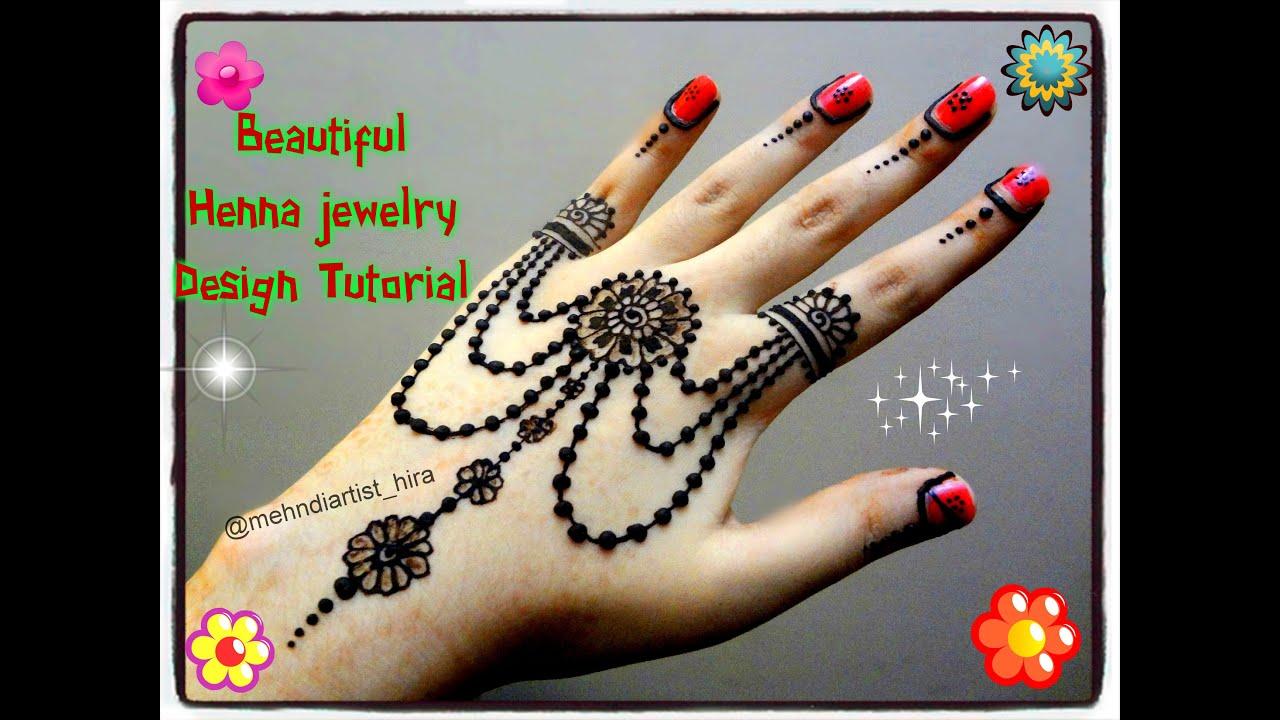 Easy Diy Mehndi Designs : Easy diy beautiful henna mehndi jewelry inspired design