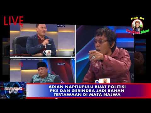 NGAKAK...Adian Napitupulu Buat Politisi PKS dan Gerindra Jadi Bahan Tertawaan di Mata Najwa