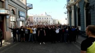 Марш перед матчем Буковина-Олімпік 29.03.2014