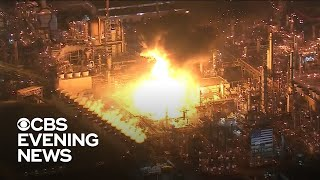 Explosion and fire breaks out at California oil refinery