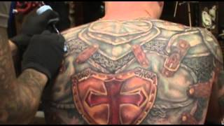 James Danger Harvey Presents.....Largest Armor Tattoo in the world.