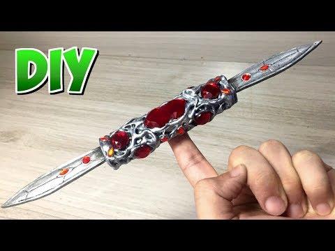 DIY Switchblade da Gamora (Adaga do Equilíbrio) - Vingadores Guerra Infinita.