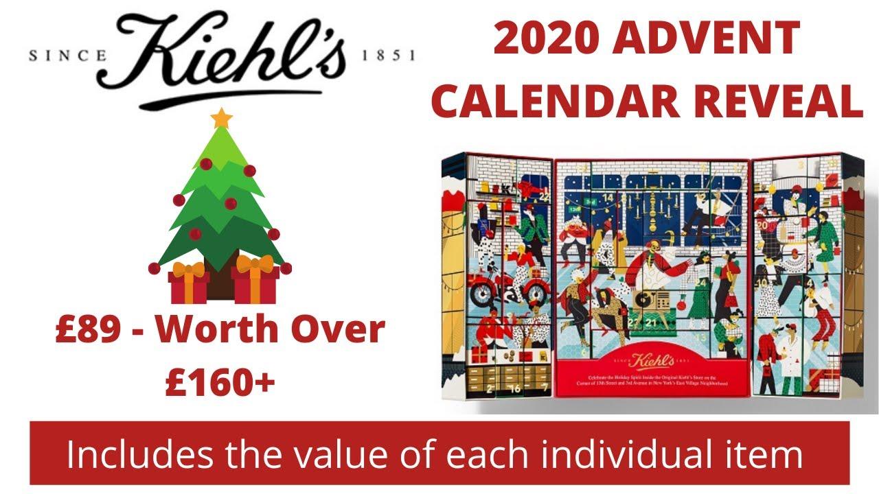 2020 Christmas Calendar KIEHLS ADVENT CALENDAR UNBOXING 2020   YouTube