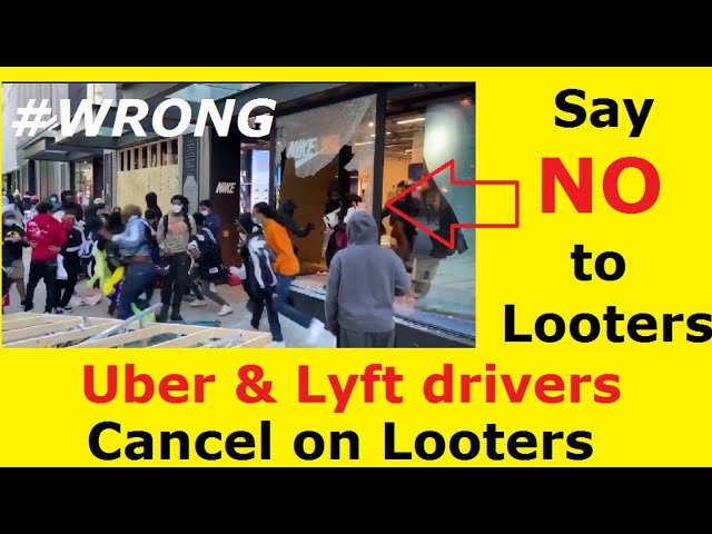 Uber & Lyft Drivers. Do not be a partner in crime. Say NO to LOOTERS.